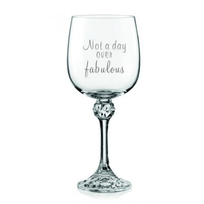 1 stk. Julia rødvinsglas med fabulous tekst