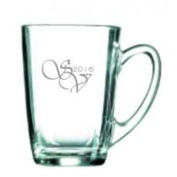 2 stk. glaskrus til varme drikke med eget design /monogram
