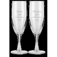 Champagneglas som bordkort