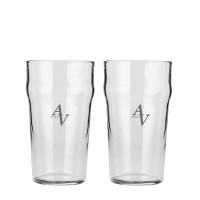 2 stk. Pint glas med eget design/monogram