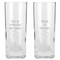 2 stk. Island øl- og vandglas med gravering 33cl