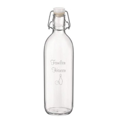 Glasflaske med gravering