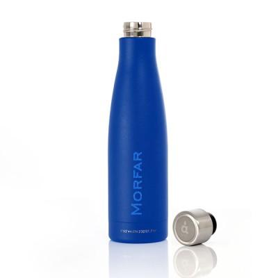 Deep Blue Bottle med gravering