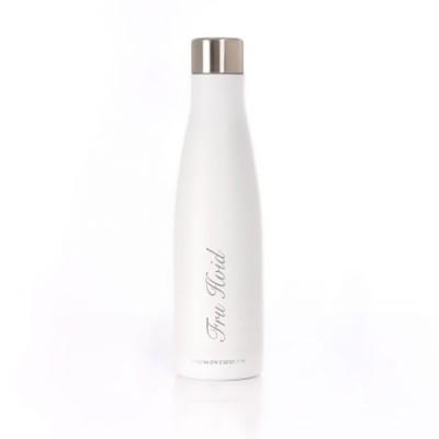 Hvid Eau Bottle med gravering