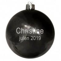 6 cm Glans julekugle med gravering
