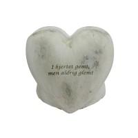 Hjerteformet vase med gravering