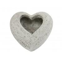Skrå hjerte vase UDEN gravering