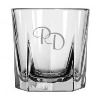 4 glas m. 5-kantet bund med eget design/monogram