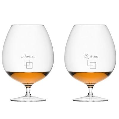 2 stk. LSA Brandy med eget design/monogram