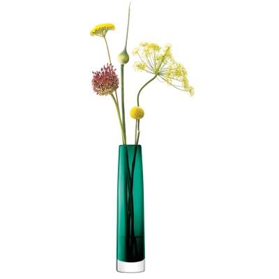 Marinegrøn vase 30cm med gravering