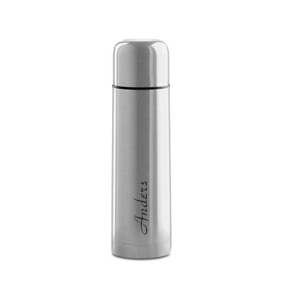 Sølv termoflaske med gravering