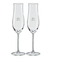 2 stk. Attimo champagne med eget design/monogram