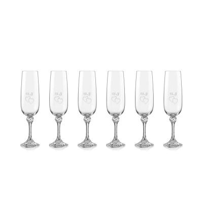 6 stk. Julia champagneglas med gravering