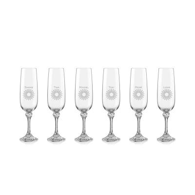 6 stk. Julia champagne med eget design/monogram