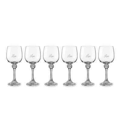 6 stk. Julia hvidvinsglas med eget design/monogram