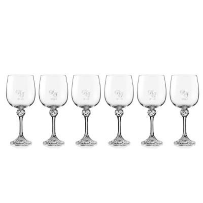 6 stk. Julia rødvinsglas med eget design/monogram