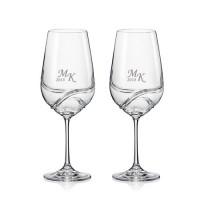 2 stk. Turbulence hvidvinsglas med eget design/monogram