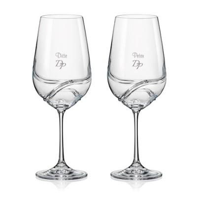 2 stk. Turbulence rødvinsglas med eget design/monogram