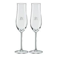 2 stk. Attimo champagneglas med eget design/monogram