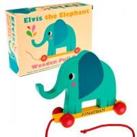 Elefant træ legetøj med gravering
