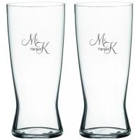 2 stk. Lager ølglas med eget design/monogram