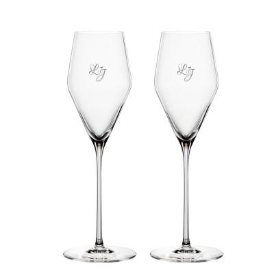 2 stk. Spiegelau Definition Champagne med eget design/monogram