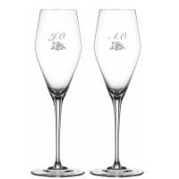 2 stk. Spiegelau Hybrid Champagne med gravering