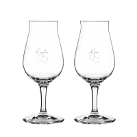 2 stk. Spiegelau Snifter Romglas med gravering