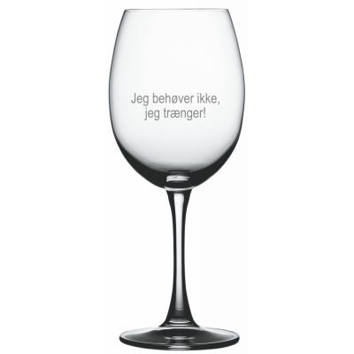 """1 stk. Bordeaux med """"Trænger"""" tekst"""