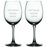 2 stk. Bordeaux med EASY DAY tekst