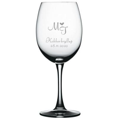 6 stk. Soiree Bordeaux med eget design/monogram