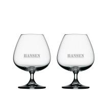 2 stk. Spiegelau cognacglas med eget design/monogram