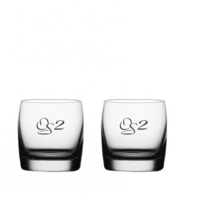 2 stk. Soiree whisky on the rocks med eget design/monogram