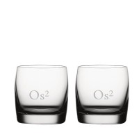 2 stk. Soiree whiskyglas on the rocks med eget design/monogram