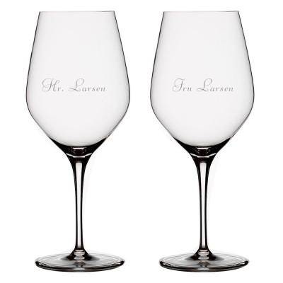 2 stk. Spiegelau Authentis Vin med gravering