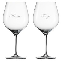 2 stk. Spiegelau VinoVino Bourgogne med gravering
