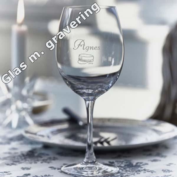 Glas med gravering