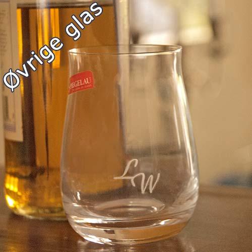 Øvrige glas med gravering