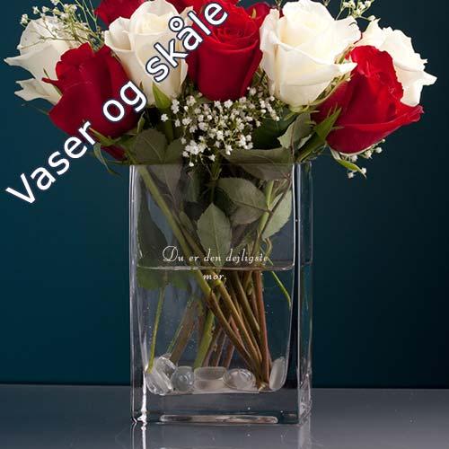 vaser og skaale med gravering